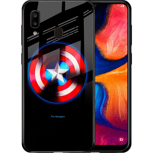 Накладка Luminous Glass Case Samsung A20 / A30 (2019) (Captain America)