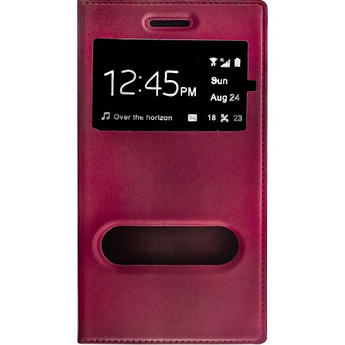 Чехол-книжка View Cover  Samsung Galaxy G355 (Бордовый)