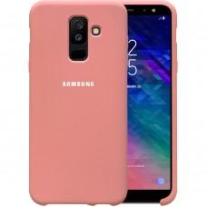 Силикон Original Case Logo Samsung Galaxy A6 Plus (2018) A605 (Розовый) (уценка) 1 категория
