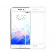 5D Защитное стекло для Meizu M5c White