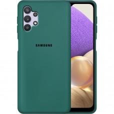 Силикон Original Case Samsung Galaxy A32 (2021) (Тёмно-зелёный)