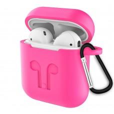 Футляр для наушников Full Silicone Case Apple AirPods (31) Barbie Pink