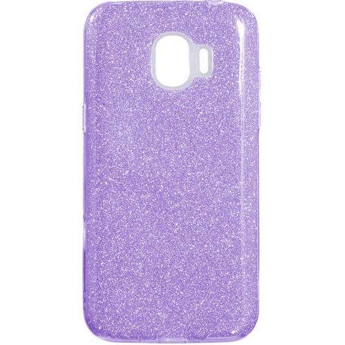 Силикон Glitter Samsung J2 (2018) J250 (фиолетовый)