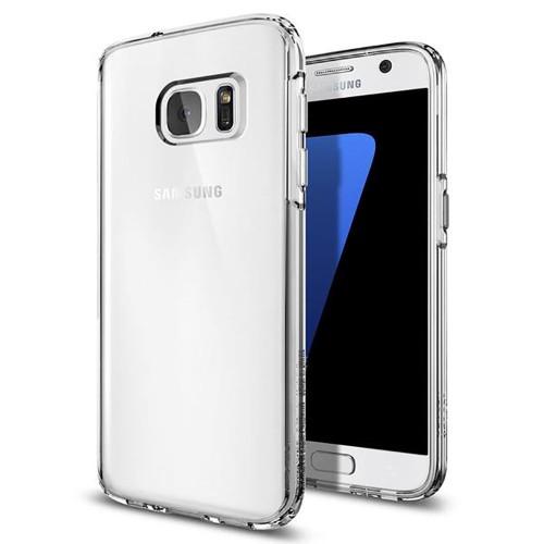 Силиконовый чехол WS Samsung Galaxy S7 Edge (Прозрачный)