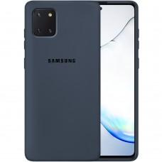 Силикон Original Case Samsung Galaxy Note 10 Lite (Тёмно-серый)