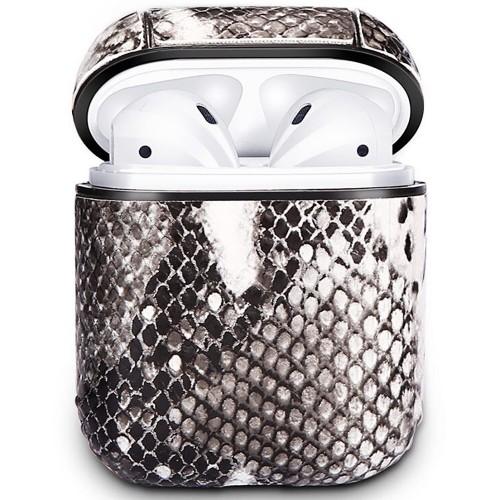 Чехол для наушников Clear Case Apple Airpods Leather (01)