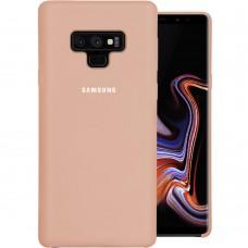 Силикон Original Case Logo Samsung Galaxy Note 9 (Пудровый)