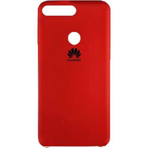 Силиконовый чехол Original Case Huawei Y7 Prime (2018) / Honor 7C Pro (Красный)