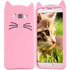 Силиконовый чехол Kitty Case Samsung Galaxy J7 (2016) J710 (розовый)