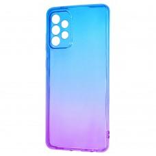 Силикон Gradient Design Samsung Galaxy A72 (2021) (Сине-фиолетовый)