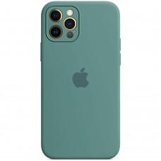 Силикон Original RoundCam Case Apple iPhone 12 Pro Max (55) Blackish Green