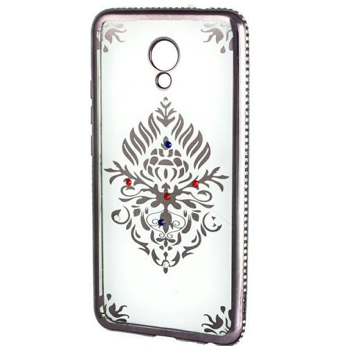 Силиконовый чехол Kingxbar Diamond Meizu M5s (Герб, Серый)