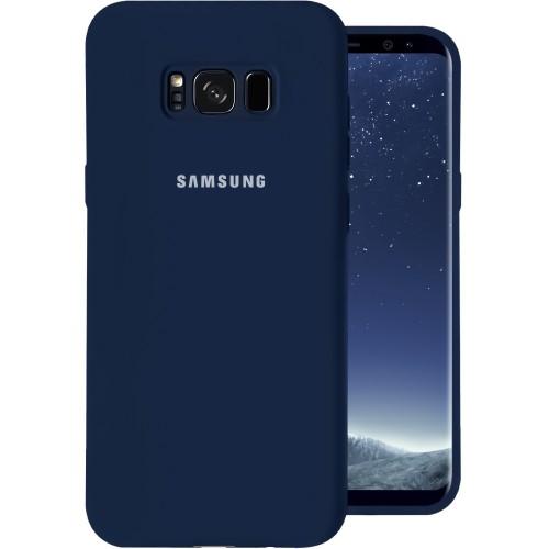 Силиконовый чехол Original Case Samsung Galaxy S8 (Тёмно-синий)