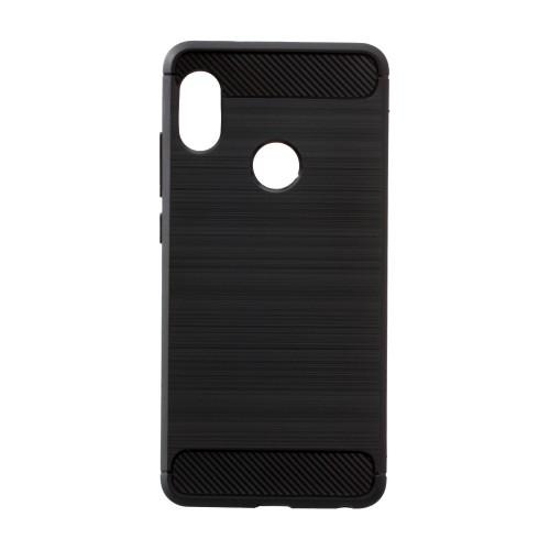 Силиконовый чехол Polished Carbon Xiaomi Mi Play (Чёрный)