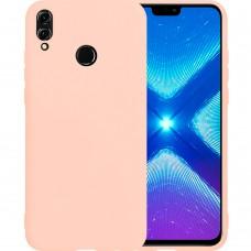Силиконовый чехол iNavi Color Huawei Honor 8X (Розовый)