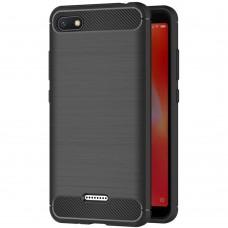 Силикон Polished Carbon Xiaomi Redmi 6A (Черный)