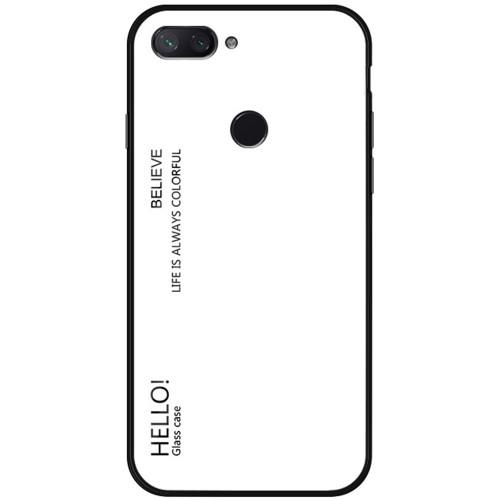Накладка Glass Case Xiaomi Mi8 (белый)