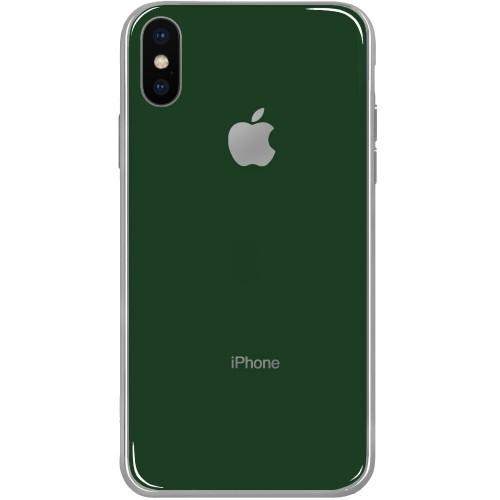 Силиконовый чехол Zefir Case Apple iPhone X / XS (Темно-зелёный)
