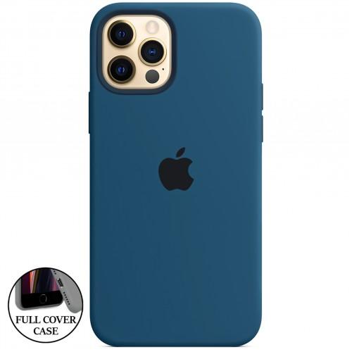 Силикон Original Round Case Apple iPhone 12 / 12 Pro (22) Blue Cobalt