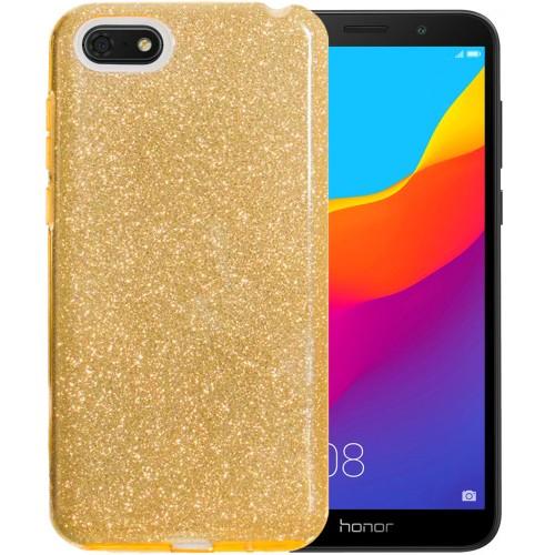 Силиконовый чехол Glitter Huawei Y5 Prime (2018) / Honor 7A (Золотой)