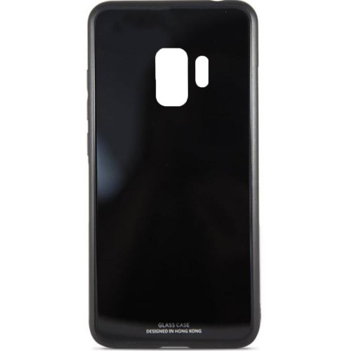 Накладка Glass Case Samsung Galaxy S9 Plus (чёрный)