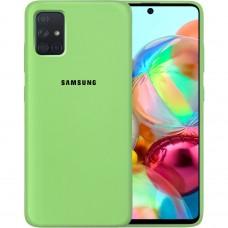 Силикон Original Case Samsung Galaxy A71 (2020) (Зелёный)