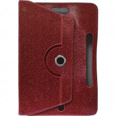 Чехол-книжка Universal Glitter Pad 10 (Красный)