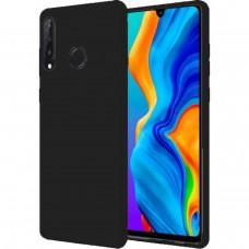 Силиконовый чехол iNavi Color Huawei P30 Lite (Чёрный)