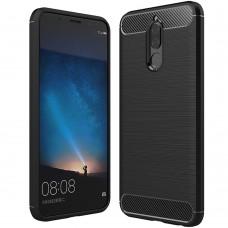 Силикон Polished Carbon Huawei Mate 10 Lite (черный)