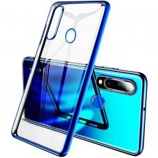 Силиконовый чехол UMKU Line Huawei P30 Lite (Синий)