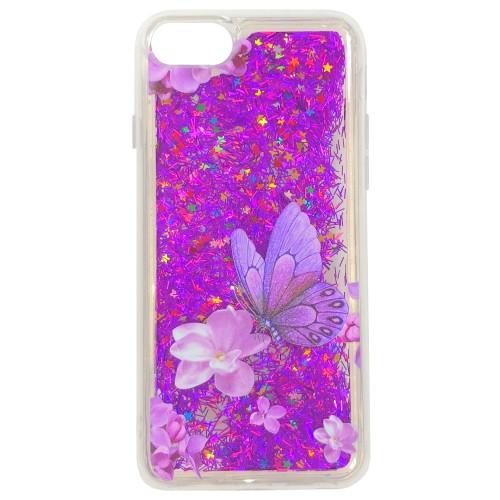 Силиконовый чехол Liquid Fashion Apple iPhone 7 / 8 (Butterfly)