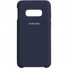 Силикон Original Case (HQ) Samsung Galaxy S10e (Тёмно-синий)