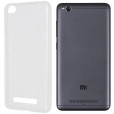 Силиконовый чехол WS Xiaomi Redmi 4a (белый матовый)