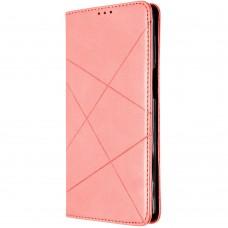 Чехол-книжка Leather Book Samsung Galaxy A12 (2020) (Розовый)
