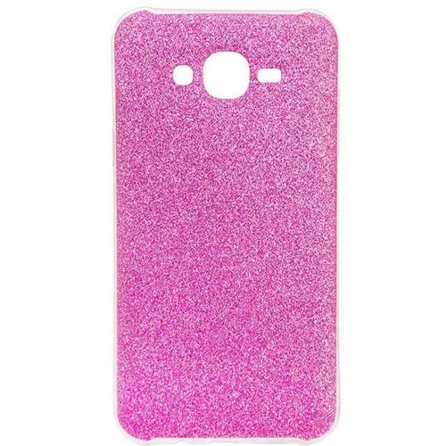 Силиконовый чехол Glitter Samsung Galaxy J7 (2015) J700 (розовый)