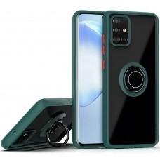 Накладка Totu Ring Armor Case Samsung Galaxy A71 (2020) (Темно-зеленый)