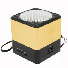 Колонка Music Mini Speaker Bluetooth QC-16 (Золотой)