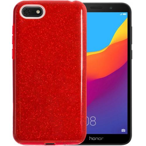 Силикон Glitter Huawei Y5 Prime (2018) / Honor 7A (Красный)