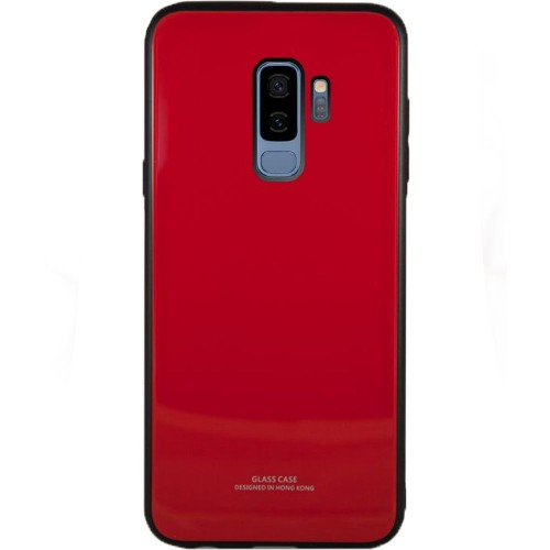Накладка Glass Case Samsung Galaxy S9 Plus (красный)