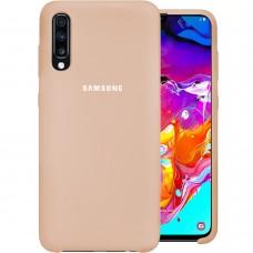 Силикон Original Case Samsung Galaxy A70 (2019) (Пудровый)