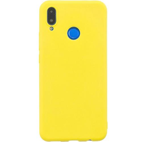 Силиконовый чехол iNavi Color Huawei P Smart Plus (Желтый)