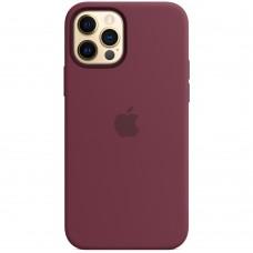 Чехол Silicone Case Apple iPhone 12 Pro Max (Plum)