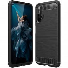 Силикон Polished Carbon Huawei Nova 5T (Чёрный)