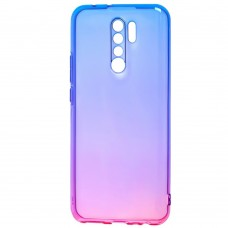 Силикон Gradient Design Xiaomi Redmi 9 (Розово-синий)