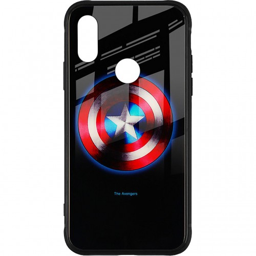 Накладка Luminous Glass Case Xiaomi Redmi Note 7 (Captain America)