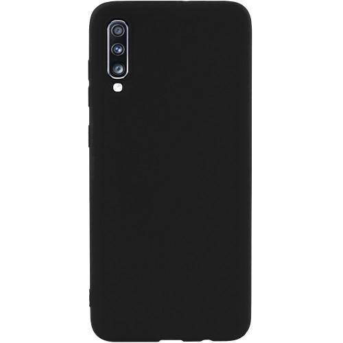 Силиконовый чехол iNavi Color Samsung Galaxy A70 (2019) (Чёрный)