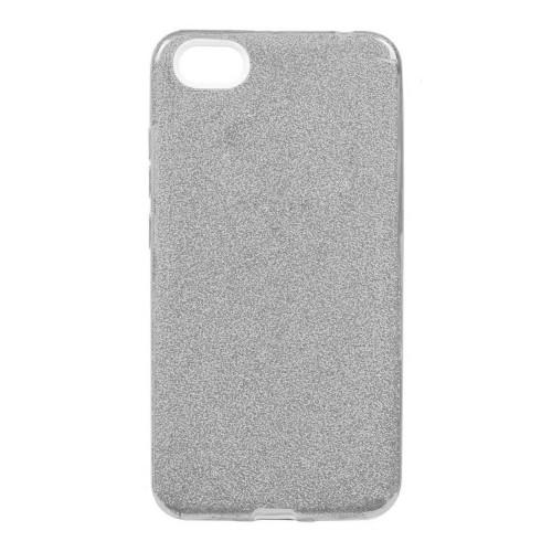 Силиконовый чехол Glitter Xiaomi Redmi 4a (серебрянный)