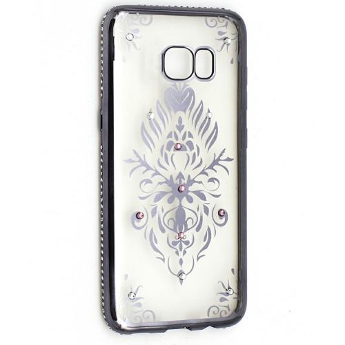 Силиконовый чехол Kingxbar Diamond Huawei Y7 2017 (Герб, Серый)