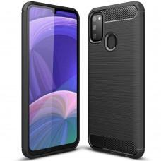 Силикон Polished Carbon Samsung Galaxy M21 (2020) (Чёрный)