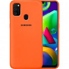 Силикон Original Case Samsung Galaxy M21 (2020) (Оранжевый)